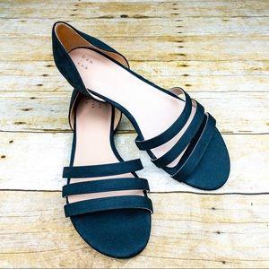 Black Sandal Flats